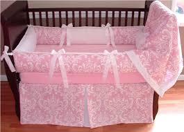 pink crib bedding pattern with birds pink crib bedding for girls