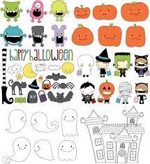 cute halloween theme vector free vector 4vector