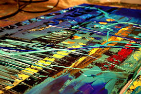 cityscape painting colorful cityscape abstract rush hour 5462