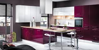 cuisine couleur violet cuisine violet et blanc