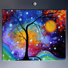 the famous abstract oil painting wonderful color landscape picture