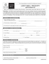 bail bureau fillable lost bail receipt affidavit adobe pdf bureau of the