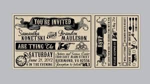 ticket wedding invitations rustic wedding invitations vintage antique edwardian