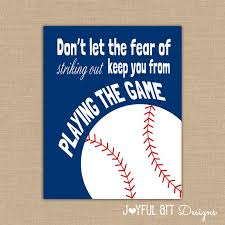 printable sports quotes motivating baseball quote printable signs by joyfulartdesigns