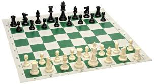 Chess Sets Tournament Chess Set 90 Plastic Filled Chess Pieces And Green