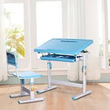 Kid Kraft Desk Desk And Chair Set For Students Single Student White Kidkraft