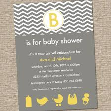 yellow and gray baby shower modern yellow and gray baby shower invitation chevron