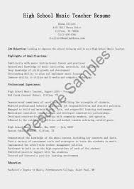 Music Resume Sample by Resume Music Teacher Resume
