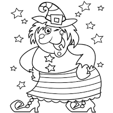 coloring pages happy witch halloween witches