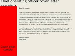 chief operating officer cover letter