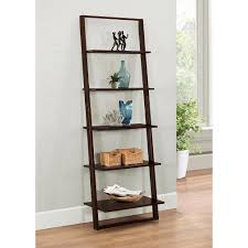 Narrow Ladder Bookcase by 4d Concepts Arlington Dark Cappuccino Ladder Bookcase 89835 The