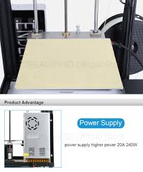 creality 3d ender 4 3d printer with v slot frame filament
