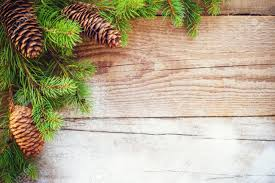 rustic christmas christmas background on a wooden rustic table stock photo