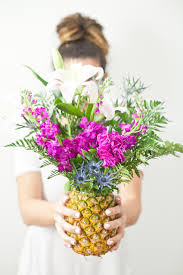 How To Make Flower Arra How To Make A Tropical Pineapple Floral Arrangement Fresh Mommy