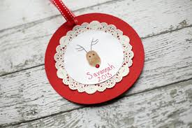 reindeer thumb print ornament tutorial the cottage