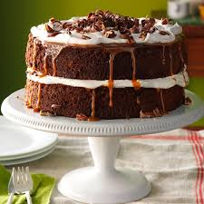 caramel pecan mocha layer cake recipe taste of home