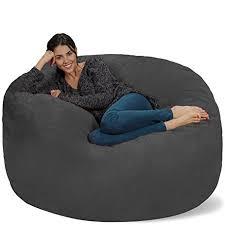 amazon com chill sack bean bag chair giant memory foam furniture