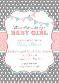 baby shower invitations cozy baby shower invitations for girls