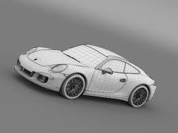 porsche 911 2015 porsche 911 carrera 4 gts coupe 991 2015 by creator 3d 3docean