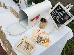 postcard wedding guest book idea guestbook thedjservice com