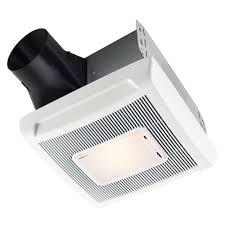 broan decorative satin nickel 70 cfm ceiling bath fan with light