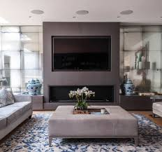 modern living room photos antiqued mirror alcoves to fireplace