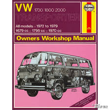 vw 1700 1800 2000 transporter manual english j h haynes vw