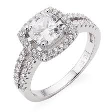 silver diamond rings silver cubic diamond wedding cluster ringwedwebtalks wedwebtalks