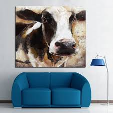 Cow Home Decor Modern 100 Handpainted Animal Painting Cow Paintings On