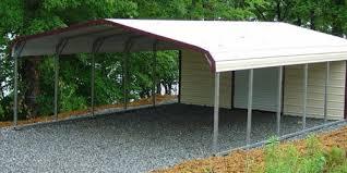 Building An Attached Carport Carports Metal Vs Light Gauge Carport Kits General Steel