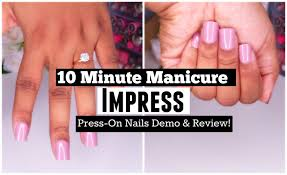 quick manicure impress press on nails jessica chanell youtube