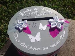urne de mariage urne de mariage fuchsia et grise les créas de lulu