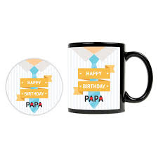 happy birthday design for mug happy birthday papa black mug giftsmate