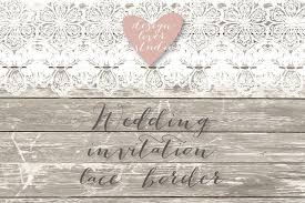 Country Chic Wedding Invitations Vector Lace Border Rustic Wedding Invitation Border Frame Lace