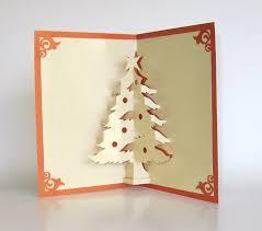 tree pop up up greeting card home décor 3d handmade