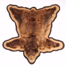 montana cinnamon blonde black bear rug