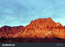 mountains glow fiery red sunrise red stock photo 12887320
