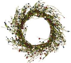 berry wreath 18 americana berry wreath by valerie page 1 qvc