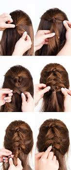 hair tutorial pony up a half up pony braid hair tutorial paper and stitch