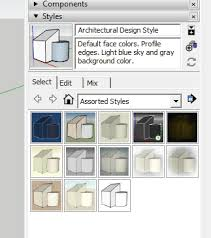 sketchup layout line color creating a custom style in sketchup with edge settings the