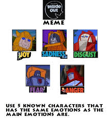 Transformers Meme - inside out meme transformers generation one by