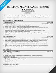 Sample Resume For Maintenance Engineer by Building Maintenance Resume Templates Resume Templates 2017