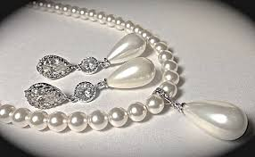 best pearl necklace images Pearl necklace and earrings set long pearl drop earrings jpg