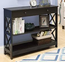 convenience concepts oxford console table amazon com convenience concepts oxford 1 drawer console table