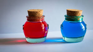 pots from decor store food coloring water u003d my first irl craft