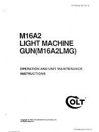 colt manual cm116 m16a2 light machine gun m16a2lmg password