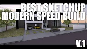 best sketchup modern house speed build youtube
