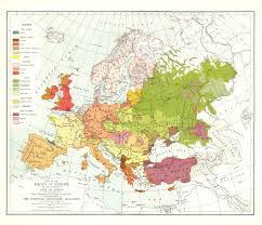 Africa And Europe Map by Races Of Europe Map 1918 Maps Com