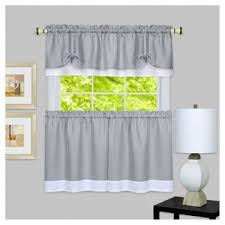 Shower Curtain And Valance 24 Inch Cafe Curtains Target
