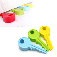 Key Home Decor Silicone Key Shape Safety Door Stop Stopper Doorstop Portable Baby